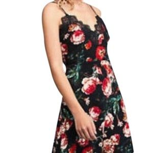 Anthropologie Red and Black Dress